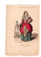Gravure Coloriée Costumes De Paris à Travers Les Siècles Dame Noble De Paris En 1633 N°18 Gerlier Roy éditeur - Stiche & Gravuren