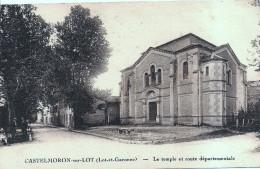 CASTELMORON Sur LOT  - Le Temple Protestant Et La Route Départementale - Castelmoron