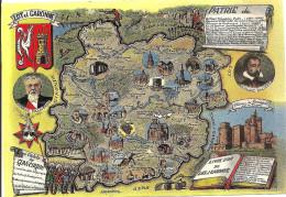 47 - LOT Et GARONNE - Contour Du Département - France