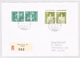 Schweiz 1960 Abart #368L Und 356L Auf R-Brief  Attest Loetscher - Briefe U. Dokumente