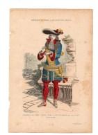 Gravure Coloriée Costumes De Paris à Travers Les Siècles Seigneur Du XVIIIème Siècle N°63 H. Rousseau Geffroy éditeur - Prints & Engravings