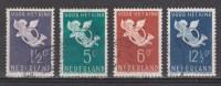 NVPH Nederland Netherlands Pays Bas Holanda 289 290 291 292 Used Kinderzegels,children Stamps Timbres D´enfants 1936 - Oblitérés