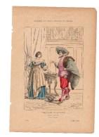 Gravure Coloriée Costumes De Paris à Travers Les Siècles Noble Dame Et Seigneur XVIIIème N°77 Dietrich Geffroy éditeur - Prints & Engravings