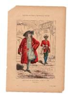 Gravure Coloriée Costumes De Paris à Travers Les Siècles Chevalier De Saint Louis Valet N°78 Dietrich Geffroy éditeur - Prints & Engravings