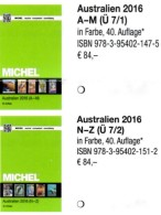 Part 7/1+2 Australien MICHEL 2016 New 168€ Australia Cook Falkland Fiji Marshall Niue Norfolk Oceania Palau Tonga Tuvalu - Materiale E Accessori