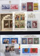 Set 9 Blocks 1981 Fürstentum Liechtenstein Block 7-15 ** 31€ Wappen Porträt Familie Papst Hb Bloc M/s Sheet Bf FL Europa - Collections (with Albums)