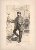 Gravure Alexandre Falguière Sculpteur Récipon Del. Brabant Sc. Barbant - Prints & Engravings