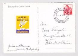 Schweiz  #215 20 Cts Rot,  Aarau 17.9.1938 Briefmarkenausstellung FDC Einzelfrankatur Mit Vignette AK  Attest Rellstab - Briefe U. Dokumente