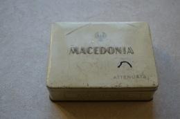 SCATOLA PER SIGARETTE MACEDONIA IN LATTA REGNO D'ITALIA ANNI 1930-1940 ORIGINALE - Schnupftabakdosen (leer)