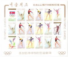 Corea Nord  - 1994. Ginnastica. Olympic Gymnastics. MNH Fresh Imperf. Sheet.  Rare!!! - Estate 1996: Atlanta
