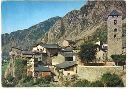 Valls D'Andorra, Andorre La Vieille, L'église Et La Vieille Ville ( Pub Texte Au Verso : M. Combier, Imprimeur, Macon ) - Andorre