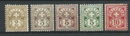 SUISSE - YVERT N° 63/67 * - COTE = 44 EURO - - 1882-1906 Armoiries, Helvetia Debout & UPU