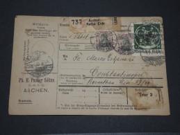 CONSTANTINOPLE - Bulletin D´expédition De Colis - RARE -  Voie Allemagne, Metz Et Constantinople - 1921 - Lot 13489 - Officina: Turquia
