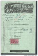 FACTURE SUR TB FISCAUX  DE 1947 : PARIS RUE JEAN BOLOGNE PIERRE CLAUDE CHANTIER NOTRE DAME MINEUR  : - Petits Métiers