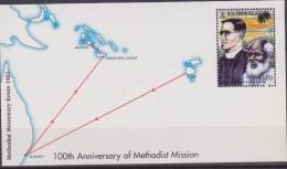 SOLOMON IS, 100 TH ANN. OF METHODIST MISSION MAP SHETT MNH - Geografia