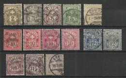 SUISSE - YVERT N° 63/70 + VARIETES COULEURS 67a/70b - COTE = 90 EURO - - Oblitérés