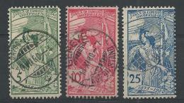 SUISSE - YVERT N° 86/88 OBLITERES - COTE = 40 EURO - - Oblitérés