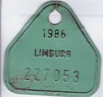 Fiets Limburg 1986 - Plaques D'immatriculation