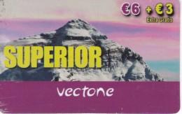 TARJETA DE ESPAÑA DE VECTONE  SUPERIOR (MONTAÑA-MOUNTAIN) - Montañas