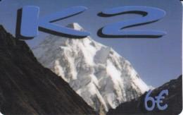 TARJETA DE ESPAÑA DE K2 DE 6 EUROS (MONTAÑA-MOUNTAIN) - Mountains
