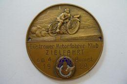 Seltene Plakette Güstrower-Motorfahrer-Klub , Zielfahrt 1929 , MC Güstrow , Motorsport , Speedway , Badge , DMG  !!! - Motorräder