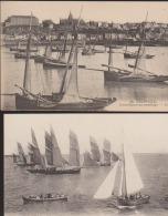 Lot 2 CPA:Granville:Granvillaises Au Mouillage/Flotille De Pêche - Granville