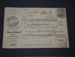 CONSTANTINOPLE - Bulletin D´expédition De Colis - RARE -  Voie Allemagne, Metz Et Constantinople - 1921 - Lot 13503 - Officina: Turquia