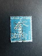 FRANCE M N° 192 Semeuse M.D.W. 46 Indice 2 Perforé Perforés Perfins Perfin - France