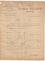 MAISON SIMEOND SICARD   SARLAT DORDOGNE  1897- COURRIER TARIF  FARINES GRAINS - 1800 – 1899