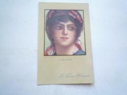LES FEMMES HEROIQUES L'ITALIENNE 1917 CIRCULE DOS DIVISE BON ETAT COLORISEE - Femmes Célèbres