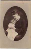 CDV Photo Originale XIX ème Mme Jules Dubois Et Jeanne Par Walery Paris Cdv759 - Oud (voor 1900)