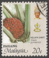Pahang (Malaysia). 1986 Agricultural Products. 20c Used SG 130 - Malaysia (1964-...)