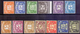 Great Britain 1959 Dues Multiple Crown Light Mounted - Unused Stamps