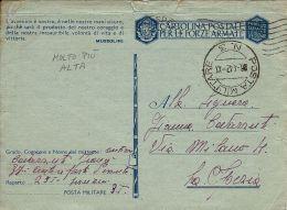 FRANCHIGIA WWII POSTA MILITARE 3 1942 TRIPOLI LIBIA X LA SPEZIA - 1900-44 Vittorio Emanuele III