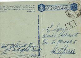 FRANCHIGIA WWII POSTA MILITARE 220 1942 TRIPOLI LIBIA PM 210 X LA SPEZIA - 1900-44 Vittorio Emanuele III