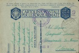 FRANCHIGIA WWII POSTA MILITARE 200 SEZ A 1942 PRIBOJ MONTENEGRO X CRUSINALLO - 1900-44 Vittorio Emanuele III