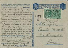 FRANCHIGIA WWII POSTA MILITARE 1942 BELLUNO X ROMA ESPRESSO TASSATO - 1900-44 Vittorio Emanuele III