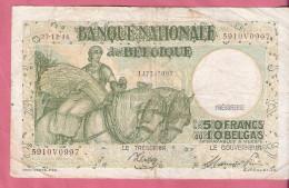 BELGIE 50 FRANCS 27-12-44 TRESORERIE P106 - [ 2] 1831-... : Royaume De Belgique