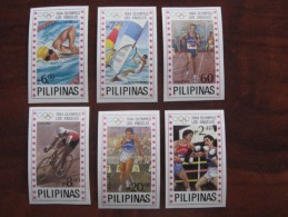 Philippines 1984 MNH Olympics  1594.99 Red Stars  Imperf  Only 100 Pcs Printed! - Summer 1984: Los Angeles