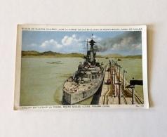 """Buque De Guerra Chileno """"ALM. La Torre"""" En Las Exclusas De Pedro Miguel, Canal De Panama. - Guerre"""