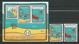 New Zealand 2004 Children's Health - A Day At The Beach.S/S And Stamps.MNH - New Zealand