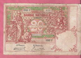 BELGIE 20 FRANCS 17-2-1920 P67 - 20 Francs