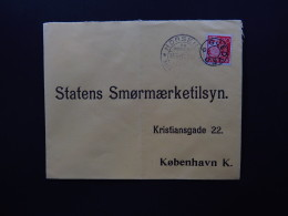 Cover Denmark Danmark Horsens Gjedved Gedved Statens Smormaerketilsyn To Kobenhavn 1941 - Postzegels