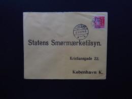 Cover Denmark Danmark Hjorring Bjergby Statens Smormaerketilsyn To Kobenhavn Ship Boat 1941 - Stamps