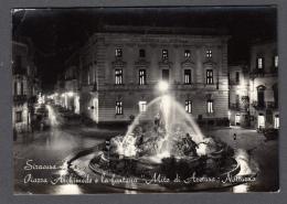 1956 SIRACUSA PIAZZA ARCHIMEDE E LA FONTANA MITO DI ARETUSA FG V SEE 2 SCANS - Siracusa