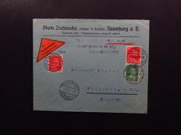Cover Germany Deutsches Reich Naumburg Saale Oldenburg Alwin Zschiesche Remboursement 1927 - Sin Clasificación