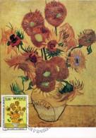 8383 Monaco, Maximum 1978  Painting Of Vincent Van Gogh, Sunflowers,  Tournesol - Arts