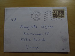 Cover Kuvert Gronland Kalaalit Nunaat Sukkertoppen Maniitsoq To Minde Norway Norge 1982 - Postzegels