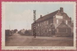 02  - BERGUES SUR SAMBRE --Route Nationale-Café Du Centre--cpsm Pf -- RR - Other Municipalities