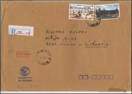 LAOS Cover Brief Postal History LA 011 Air Mail Traditions Festivals Temple - Laos